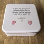Personalised AUNTIE AUNTY AUNT Cake Biscuit Tin gift ANY NAME BAKING - 332815749532